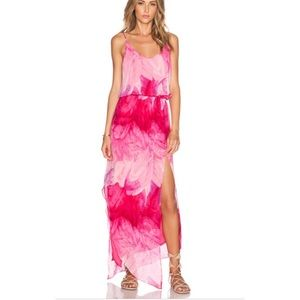 Rory Beca Nikee silk Maxi Dress in pink